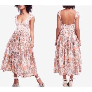 Free People | Love You Floral Midi Dress